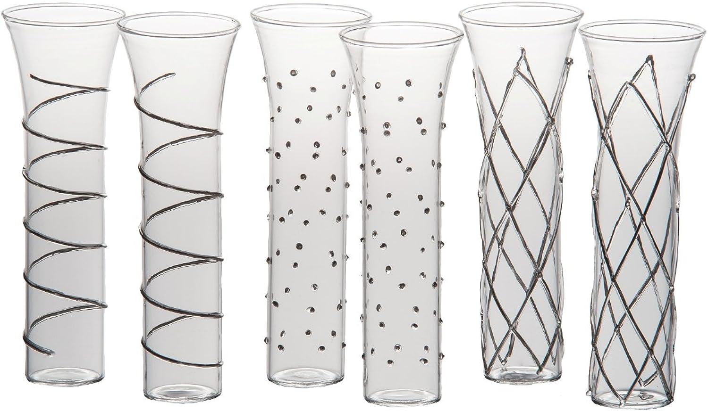 Abigails Champagne Glasses, Silver, Set of 6