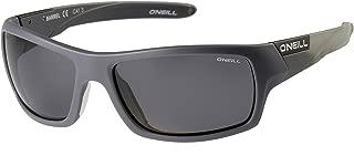 O'Neill Men's Sports wrap Around Polarized Sunglasses Matte Grey Surfboard 62 mm