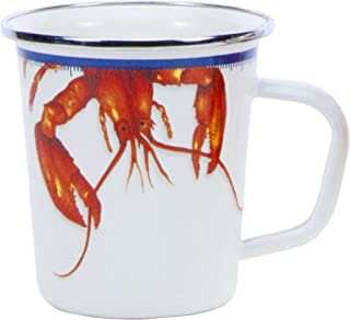 Enamelware - Lobster Pattern - 16 Ounce Latte Mug