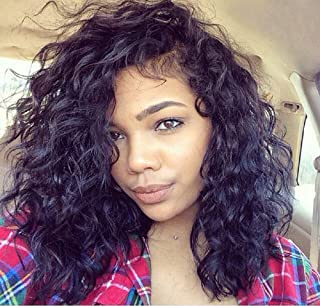 Human Hair Wigs Brazilian Loose Curly Front Lace wig For America Black Women with Baby Hair Pre Plucked Hairline Light Bleached Knots