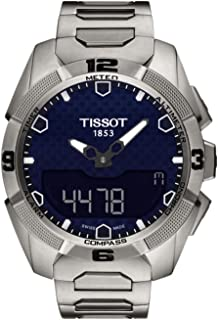 T091.420.44.041.00 T-Touch Expert Solar Blue Dial Titanium Men's Watch