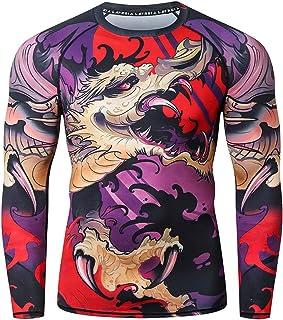 LAFROI Camisa de compresión de manga larga UPF 50+ Baselayer Performance para hombre CLY08