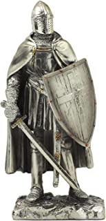 Ebros Holy Roman Empire Caped Crusader Knight with Sword and Shield Statue 7