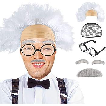 Mad Scientist Wig Old Man