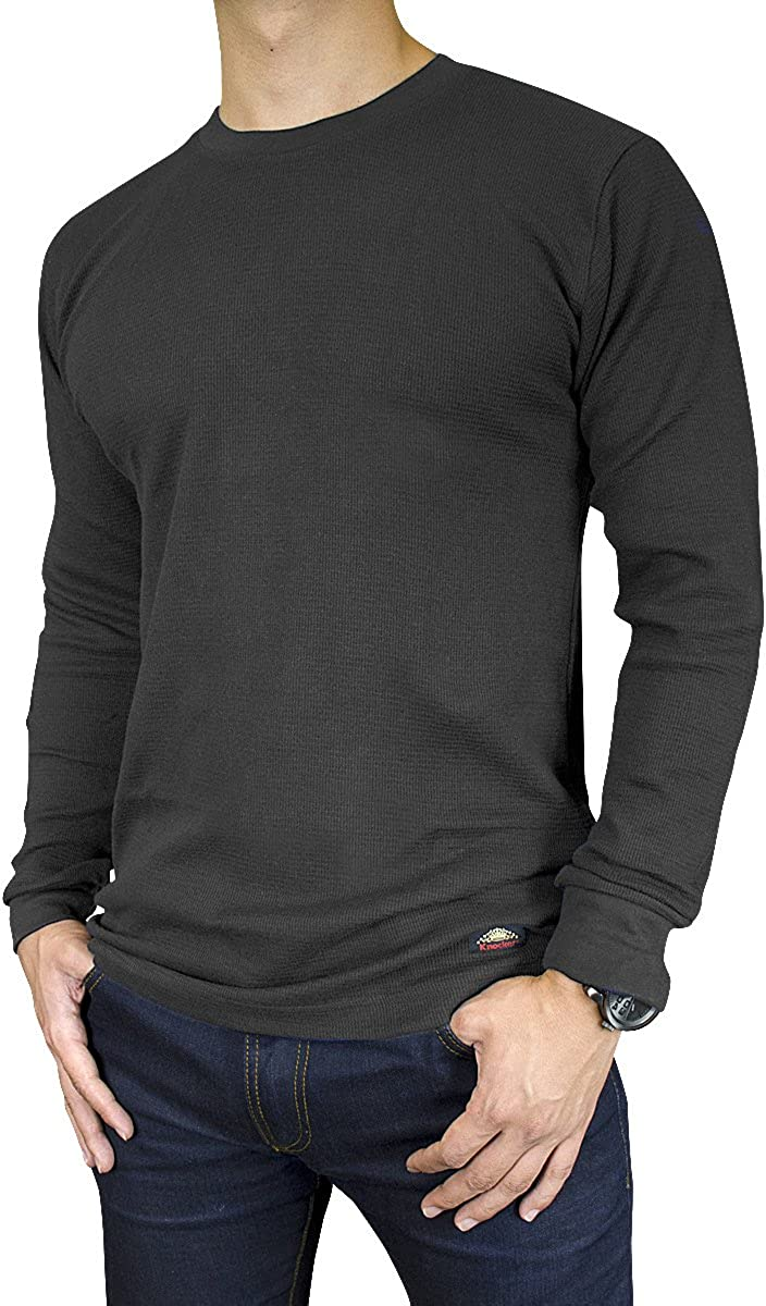 Knocker Men's Mid Weight Thermal Long-Sleeve Top Shirt (Charcoal, XXX-Large)