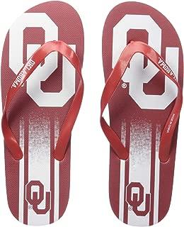 NCAA Oklahoma Sooners Unisex Gradient Big Logo FLIP FLOPOKLAHOMA Unisex Gradient Big Logo FLIP Flop Large, Team Color, L