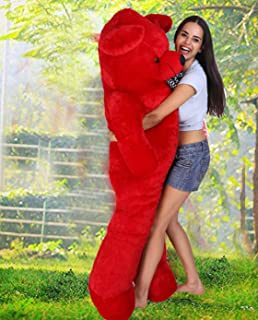 OSJS Soft Toys Lovable/Huggable Teddy Bear for Girlfriend/Birthday Gift/Boy/Girl Red 3 feet (90 cm) (Red)