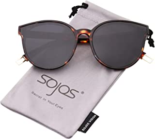 ddd088d934d SOJOS Fashion Round Sunglasses for Women Men Oversized Vintage Shades SJ2057