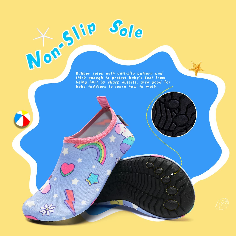 Kids Water Swim Shoes Barefoot Aqua Socks Shoes Quick Dry Non-Slip ...