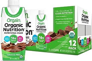 Orgain Organic Nutritional Shake, Creamy Chocolate Fudge - Meal Replacement, 16g Protein, 21 Vitamins & Minerals, Gluten F...