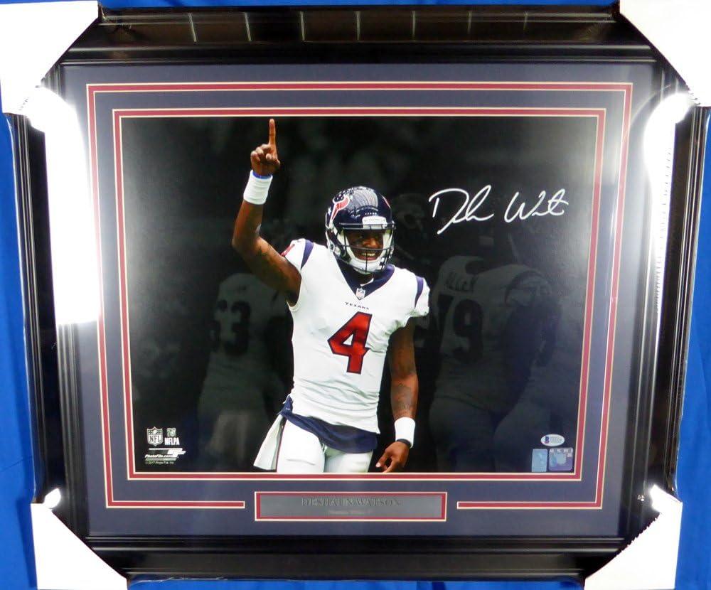 Deshaun Watson Autographed Framed 16x20 Texans Max 69% OFF Milwaukee Mall Photo BAS Beckett