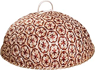 NewFerU Food Dome Lid Cover Bamboo Woven,Keep Out Flies Bugs for 13