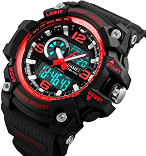 Mens Analog Digital LED 50M Waterproof Outdoor Sport...