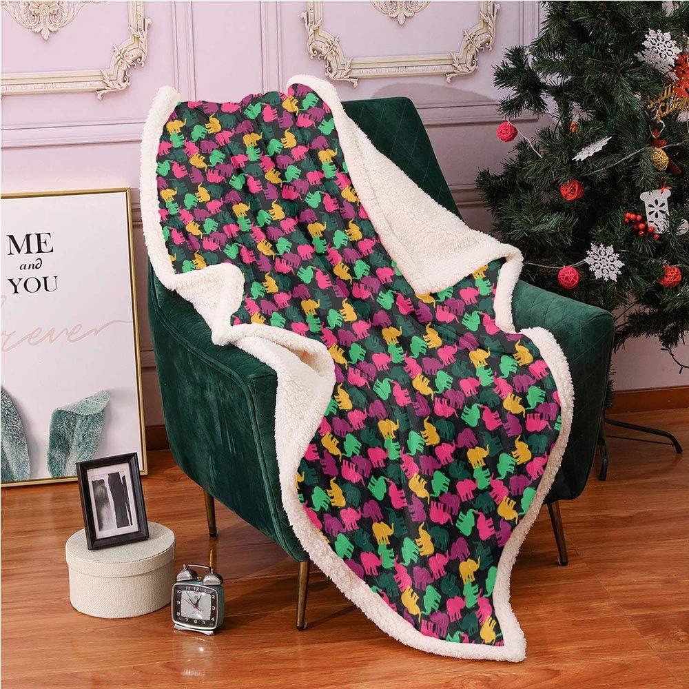 SeptSonne Animal Fleece Throw Blanket Colorful Cheap mail order shopping of Saf Silhouette 2021 model