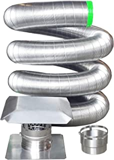 Rockford Chimney Supply RockFlex Stainless Steel Flexible Chimney Liner Insert Kit, 6 Inch x 25 Feet