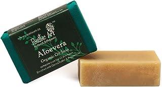 Rustic Art Organic Aloe Vera Soap   Almond, Jojoba, Vitamin E   Dry to Normal Skin   100 Gm