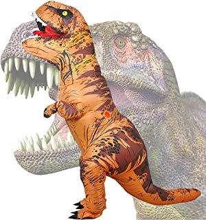 Wild Cheers Inflatable Dinosaur Costume, 2.2m High, Jurassic T-Rex Costume, Screaming, Suitable for Halloween, Birthday Pa...