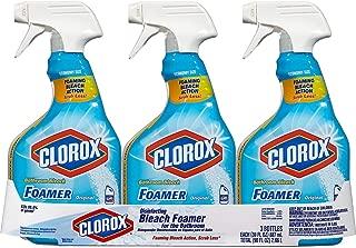 Clorox Bleach Foamer Bathroom Spray, 30 oz. Bottles 1 Pack of 3