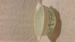 Vintage 1950's Pyrex Mixing Bowl White Turquoise Amish Butterprint #441 1 1/2 Pint