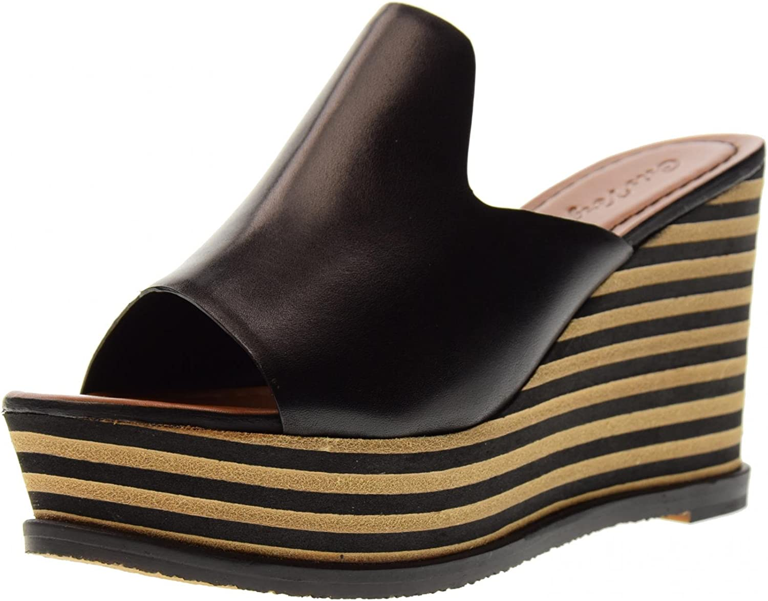 CRIS VERGRE' shoes Woman Slippers with Wedge H0201X Black
