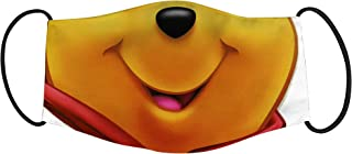 Vista Winnie the Pooh Teddy Smiley Mask for Kids - Cotton Eco Friendly Reusable Washable Mask Size 18x10cms