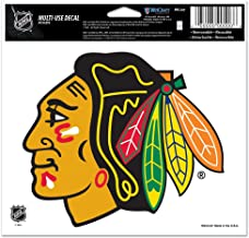 WinCraft NHL Chicago Blackhawks 20522091 Multi-Use Colored Decal, 5