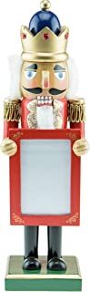 Clever Creations Wooden Nutcracker Picture Frame - Fits 3.25 inch x 2.5 inch Picture - Traditional Festive Christmas Decor - 10 inches Tall - Perfect Holiday Decoration for Shelves and Tables