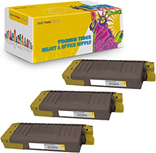 NYT Compatible High Yield Toner Cartridge Replacement for 43324474 for OKI CX2032 MFP (Yellow, 3-Pack)