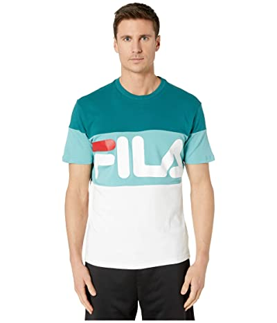 Fila Vialli T-Shirt (Pacific/White/Dusty Turquoise/Chinese Red) Men