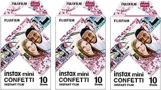Fujifilm Instax Mini Confetti Film 19061920, 30 Sheets, 3 Value Set