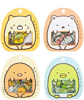 Aimeio Super Cute Cartoon Animals Transparent PVC Stickers for Diary Calendar Albums Decoration Scrapbook Planner Journal Child DIY Toy School Office Supplies,4 Pack,200 Pieces