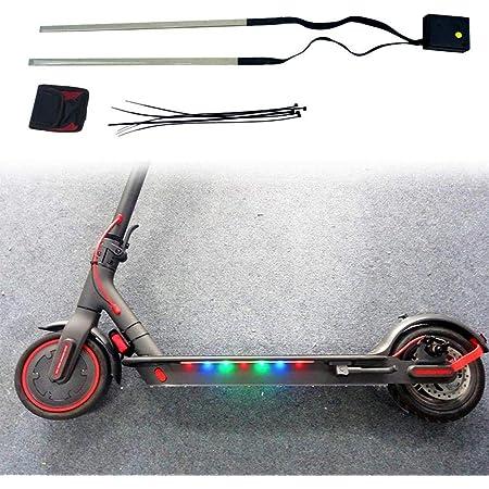Linghuang Tira de luz para scooter Xiaomi M365 / M365 PRO Advertencia Luz de seguridad nocturna Luz LED Light con escúter eléctrico marco accesorios