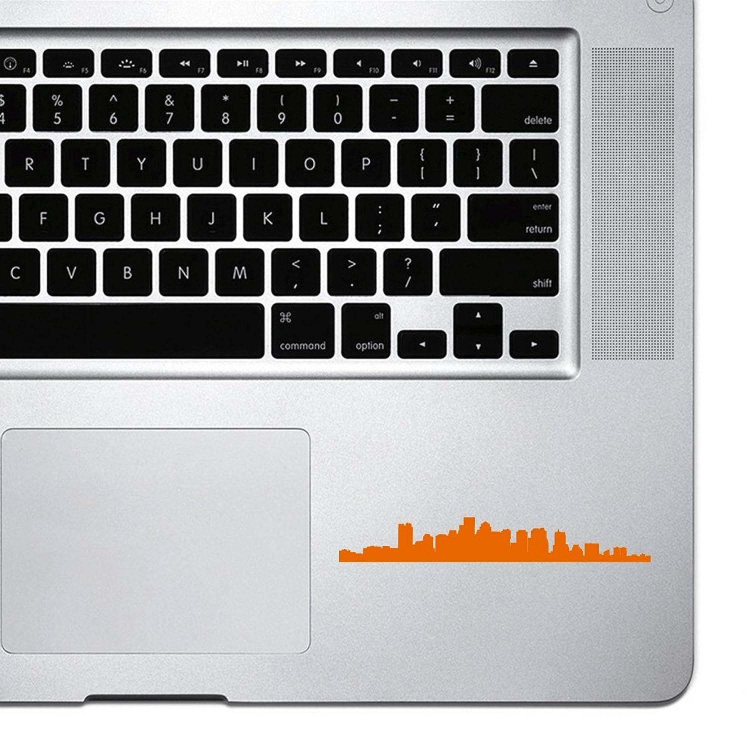StickAny Palm Series Boston Skyline Sticker for Macbook Pro, Chromebook, and Laptops (Orange)