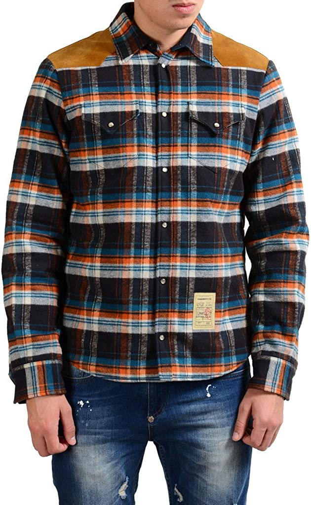 DSQUARED2 Men's Insulated Fleece Button Up Jacket