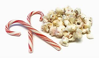 Candy Cane Peppermint Popcorn with White Chocolate Drizzle (16 oz)