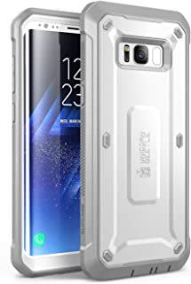 SUPCASE Unicorn Beetle Pro Series Case Designed for Galaxy S8, Full-Body Rugged Holster Case Without Screen Protector for Samsung Galaxy S8 (2017 Release) (White/Gray)