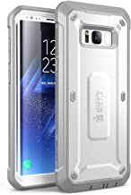SUPCASE Full-Body Rugged Holster Case for Galaxy S8+ Plus, with Built-in Screen Protector for Samsung Galaxy S8+ Plus (2017 Release), Unicorn Beetle PRO Series - Retail Package (White)