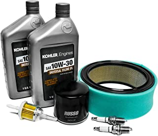 Replaces John Deere Maintenance Kit with 10w30 Kohler Oil for F620, F680, F687 & ZTrak Mowers