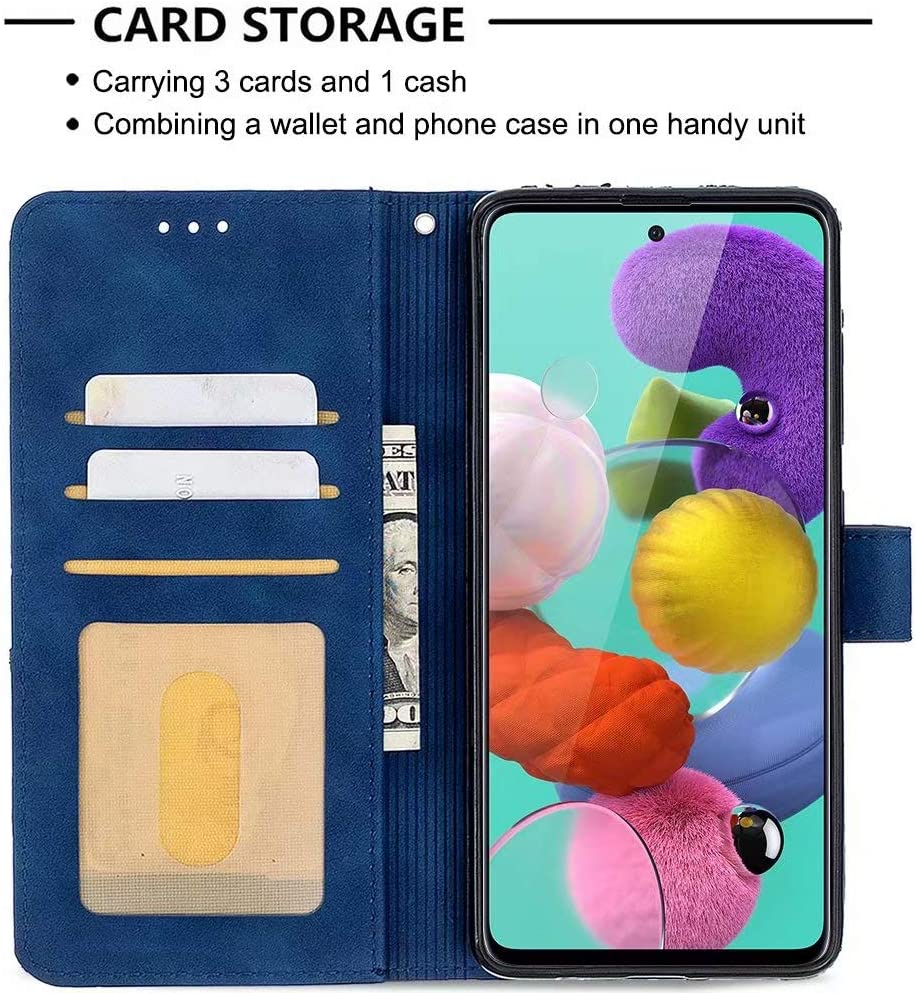 ROSEHUI Wallet Case for Samsung Galaxy A21S Retro Vintage Leather Case with Card Holder Magnetic Closure Shockproof Protective Flip Folio Stand Case for Samsung Galaxy A21S Red