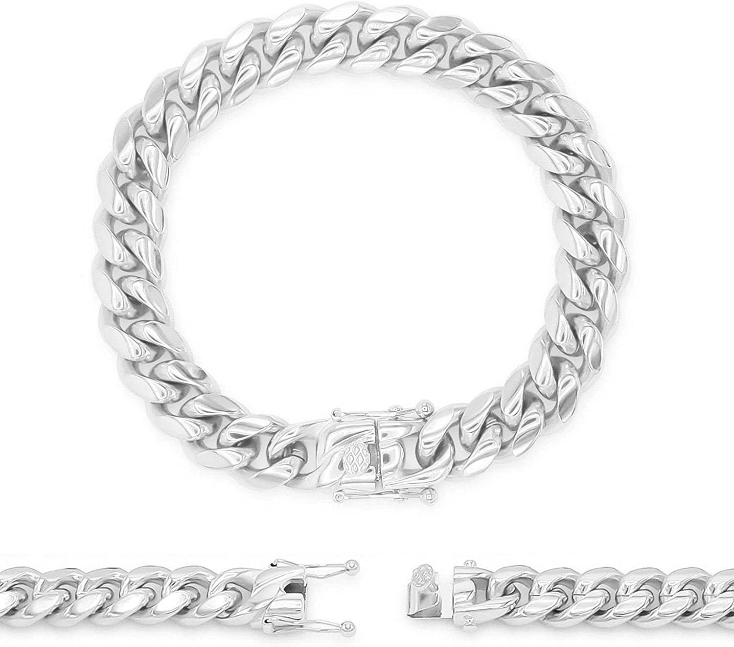 BEBERLINI Cuban Limited time trial price Link Chain Silver Spasm price 30