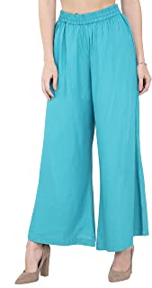 Women Plazo Plazzo Bottom Wear Ethnic Palazzo Pants Trousers With Kurti Kurtis Kurta By Lagi.