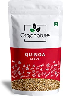 Organature Fresh White Quinoa Seeds   Whole Quinoa Seeds for Weight Loss, High in Protein and Calcium - Pack of 1 Kg