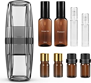 UTOTEBAG Travel Accessories Travel Bottles Set with Portable Toothbrush Container for Toiletry Cosmetics, Travel Size Toil...
