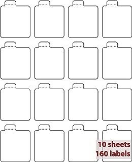 Milliard Lip Balm Tube Blank Labels – 16 Labels x 10 Sheets – White Matte…