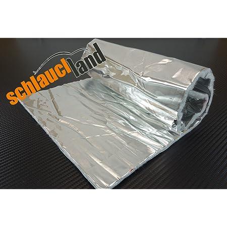 Schlauchland Hitzeschutzmatte 10mm Alu-Keramik 2,0m x 1,0m *** Turbo Auspuff Kr/ümmer Isoliermatte Hitzeschutzfolie