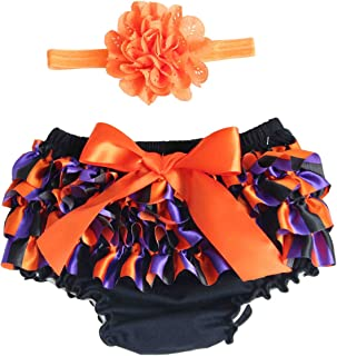 Baby Girl Ruffle Lace Pure Cotton Panties Diaper Underpants Cover Halloween Party Decoration Size S
