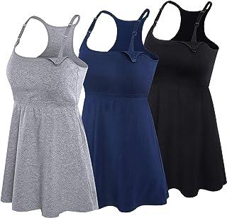 Women's Nursing Tank Top Cami Maternity Bra Breastfeeding Clothes