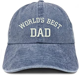 World's Best Dad Embroidered Pigment Dyed Low Profile Cotton Cap