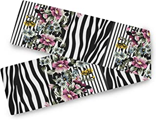 BEETTY Table Runner 13x70 Inch Floral Zebra Print Family Dining Kitchen Coffee Table Runner Festival Wedding Table Scarves Home Decor
