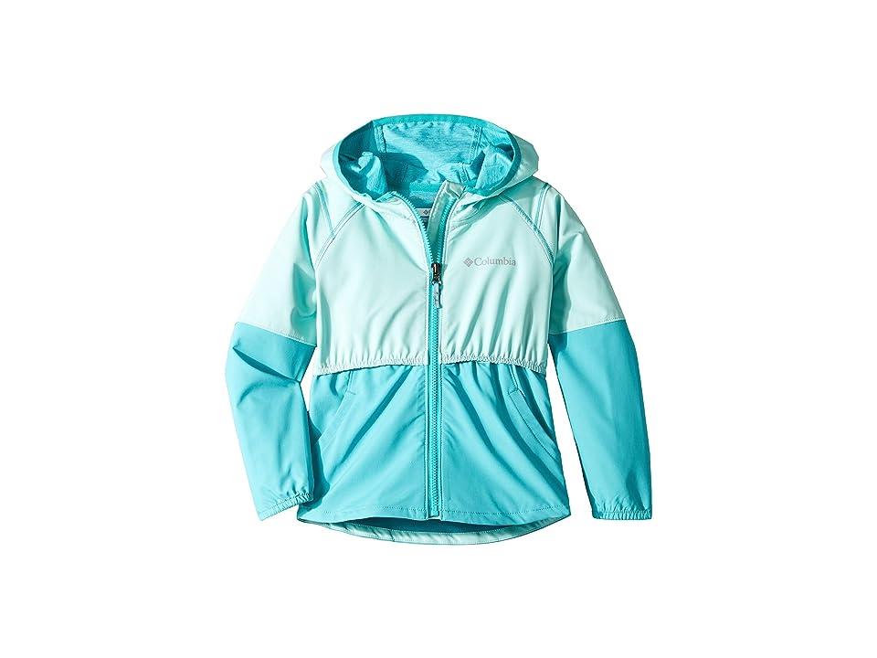 Columbia Kids Hidden Canyontm Softshell Jacket (Little Kids/Big Kids) (Gulf Stream/Geyser) Girl
